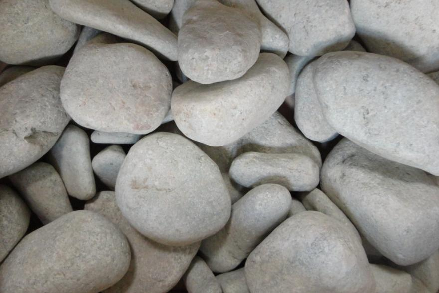Банный камень - Жадеит галтованный серо-зеленый