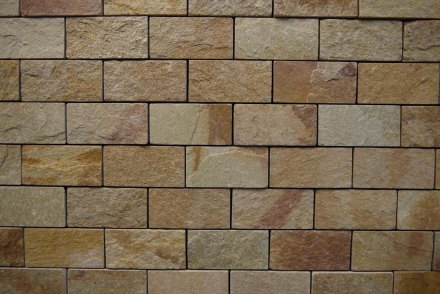 Интерьерный натуральный камень - Златолит 6х12