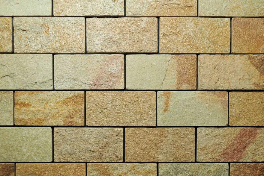 Интерьерный натуральный камень - Златолит 6х12 - 1