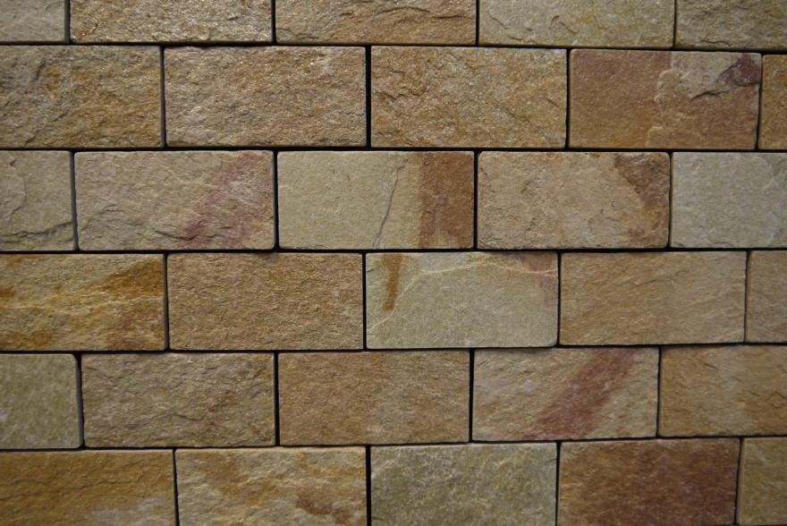 Интерьерный натуральный камень - Златолит 6х12 - 2