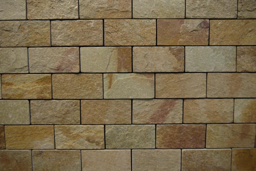 Интерьерный натуральный камень - Златолит 6х12 - 3