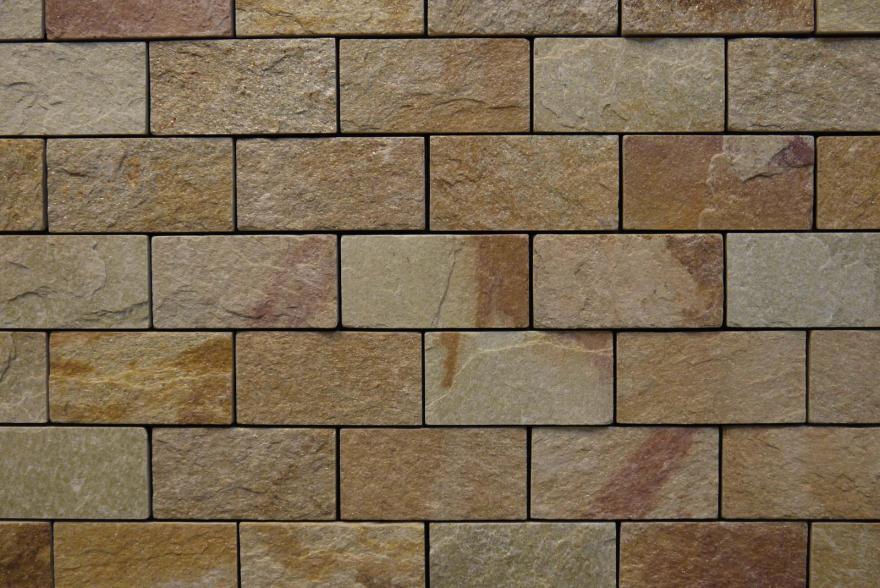 Интерьерный натуральный камень - Златолит 6х12 - 4