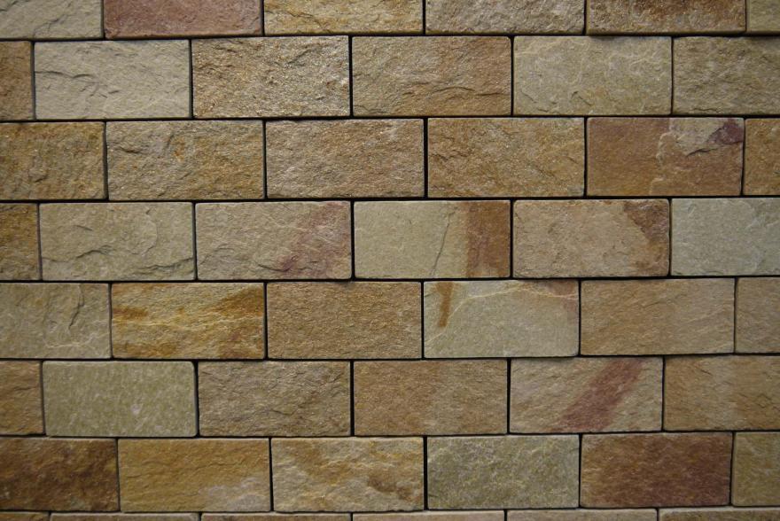 Интерьерный натуральный камень - Златолит 6х12 - 5