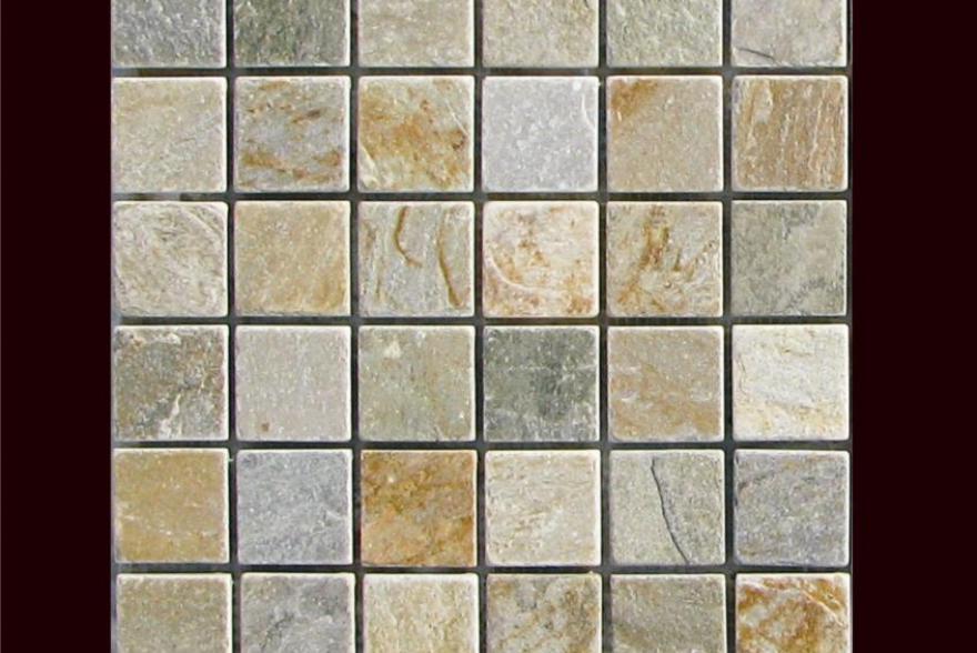 Мозаика каменная - Мозаика Сланец Квадратный орнамент