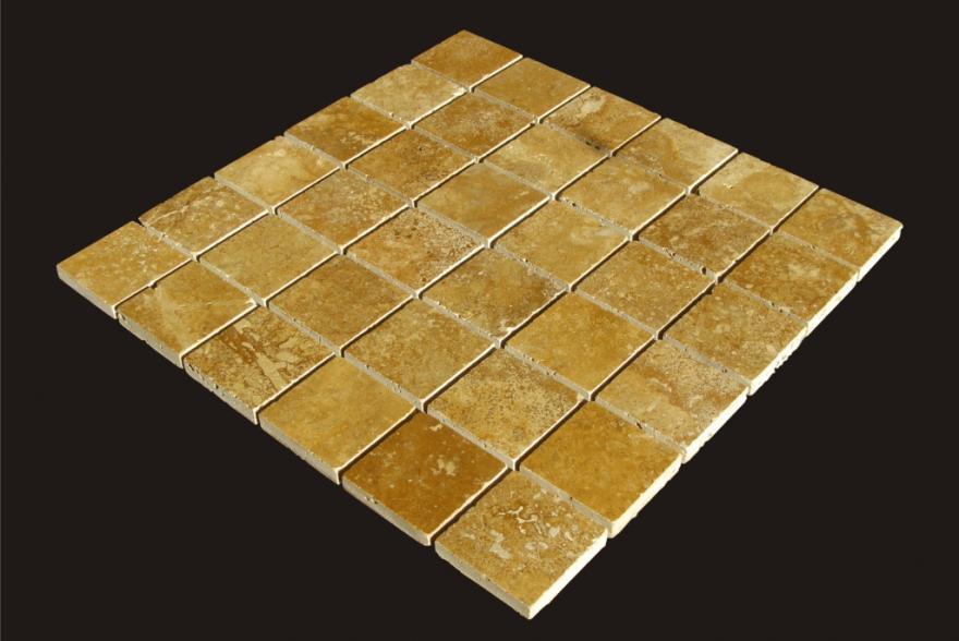 Мозаика каменная - Мозаика Травертин Желтый