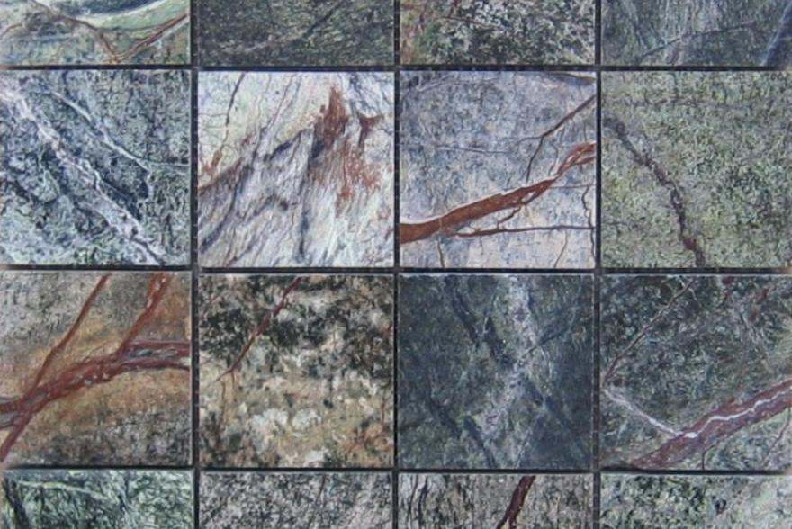 Мозаика каменная - Мозайка Мрамор Forest Green