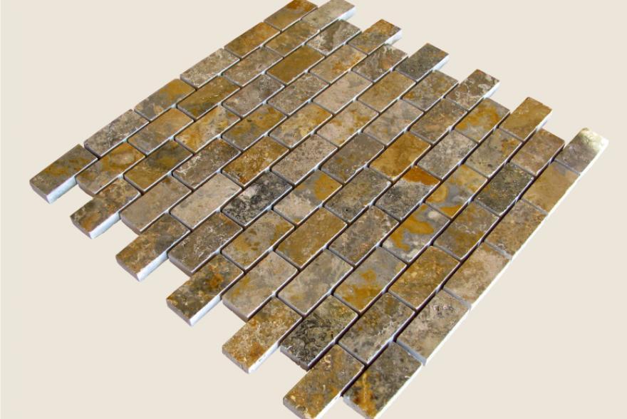 Мозаика каменная - Мозайка Травертин зелёный