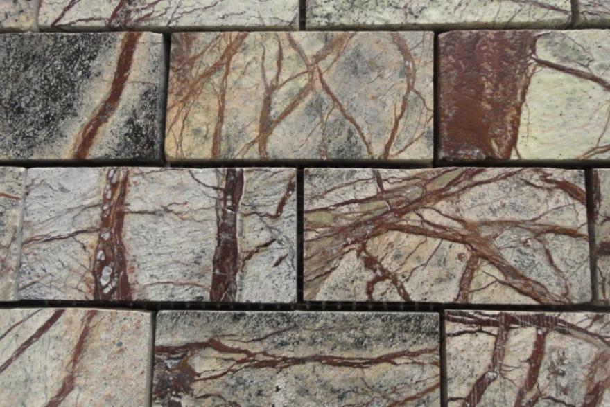 Мозаика каменная - Мрамор Forest Brown