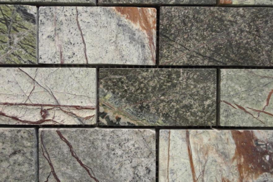 Мозаика каменная - Мрамор Forest Green