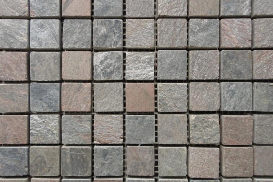 Мозаика каменная - Сланец Copper полированный