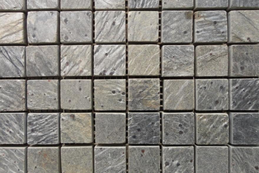 Мозаика каменная - Сланец Dark Green полированный