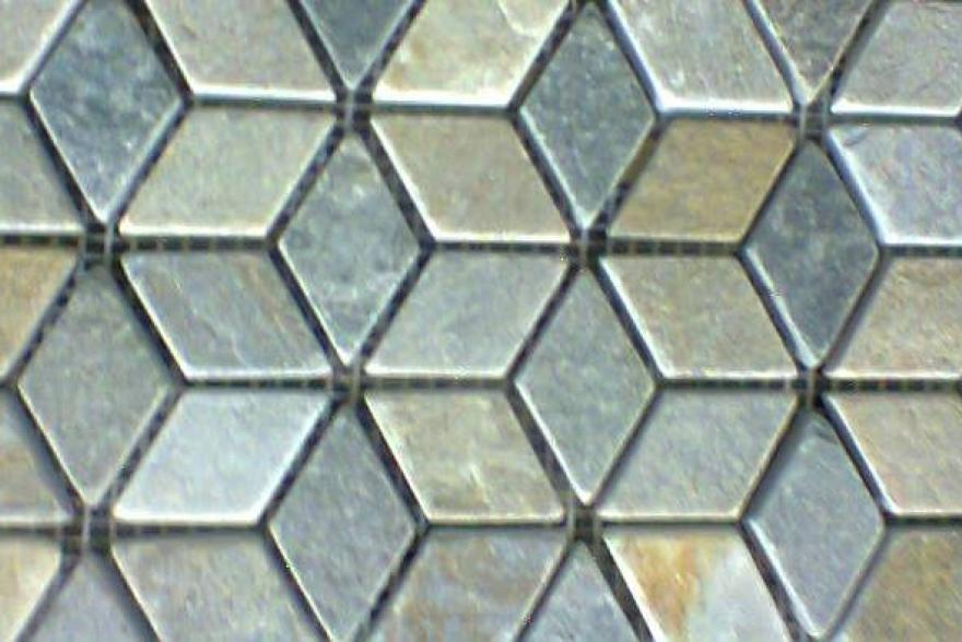 Мозаика каменная - Сланец волнистый орнамент