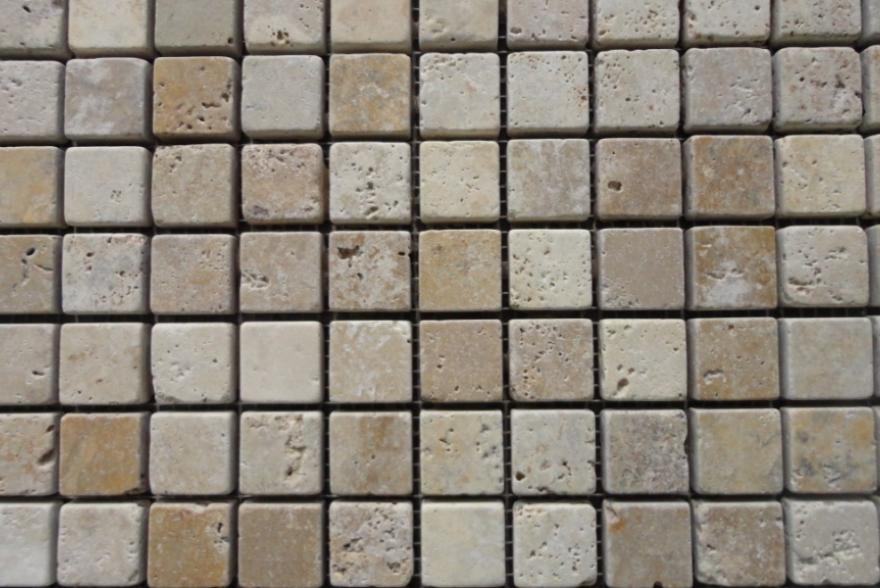 Мозаика каменная - Травертин бежевый