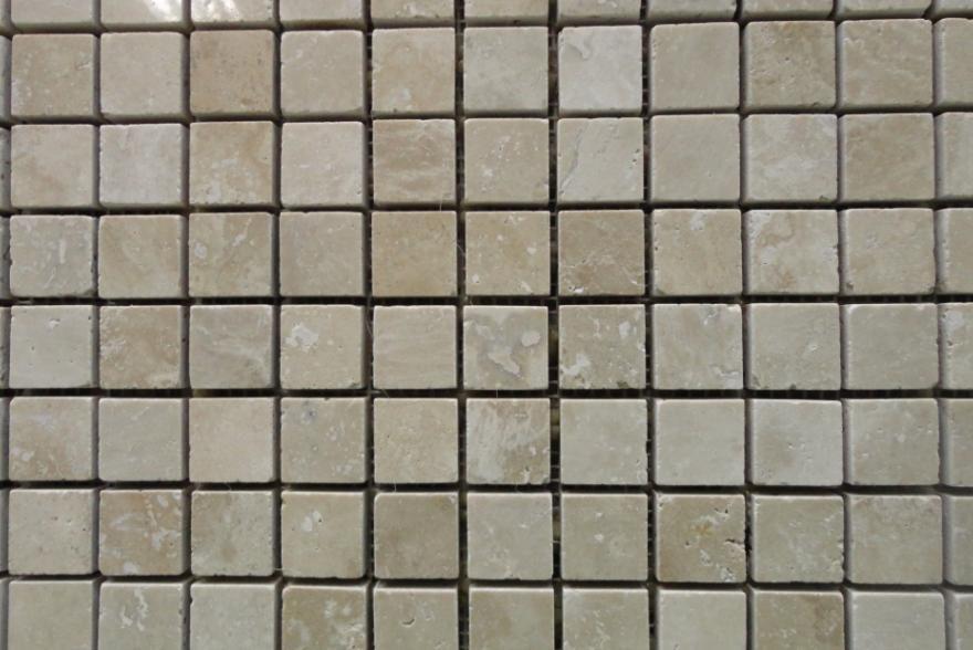 Мозаика каменная - Травертин классический полированный
