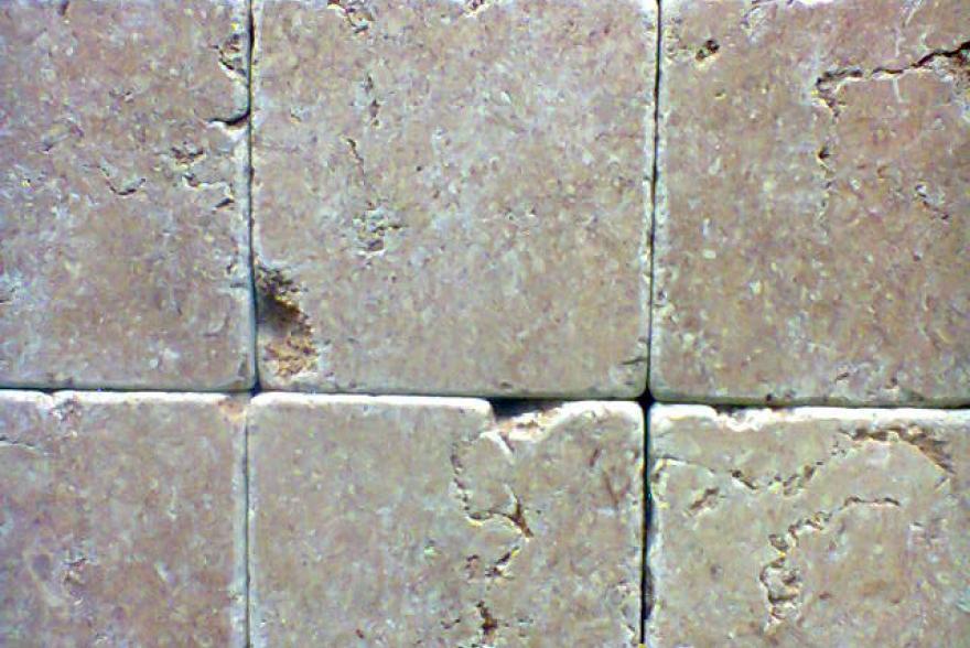 Мозаика каменная - Травертин розовый