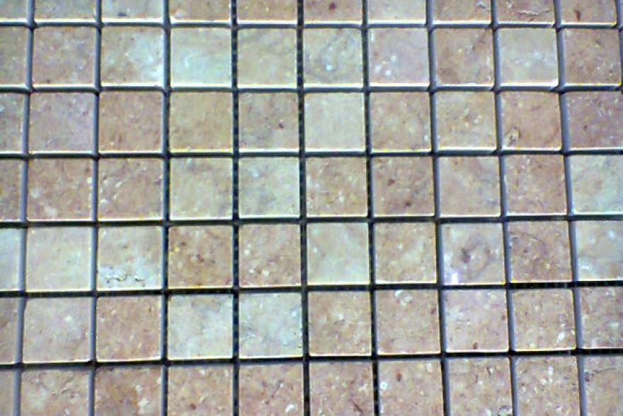 Мозаика каменная - Травертин розовый полированный