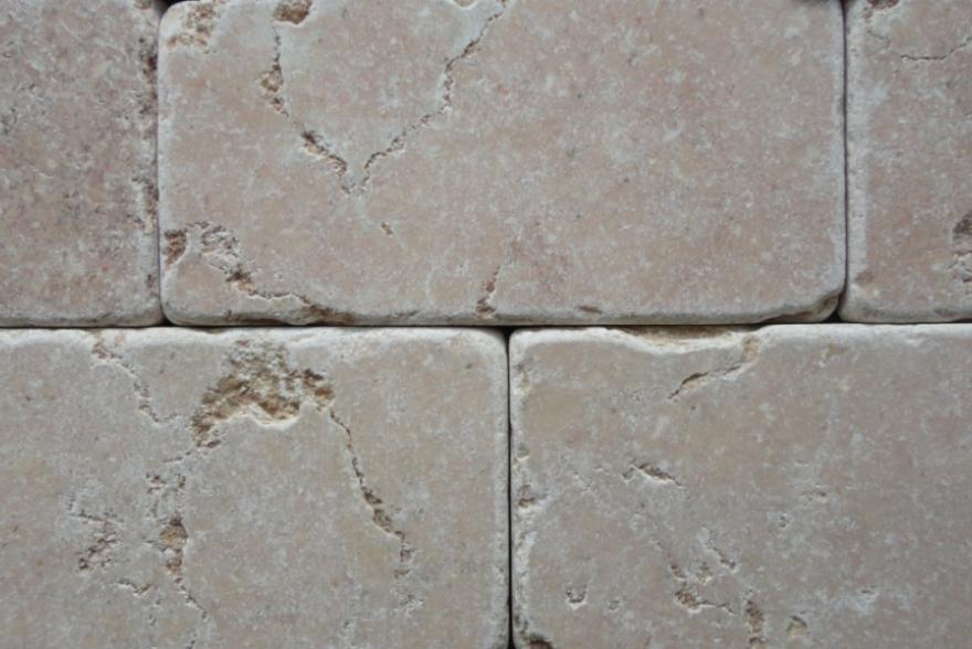Мозаика каменная - Травертин розовый состаренный