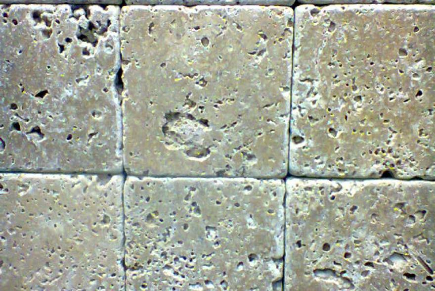 Мозаика каменная - Травертин темно-бежевый