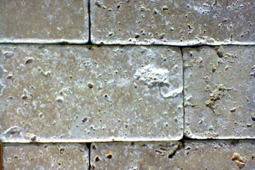 Мозаика каменная - Травертин темно-бежевый состаренный
