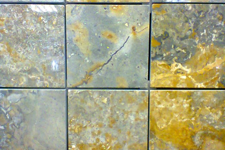 Мозаика каменная - Травертин зеленый полированный