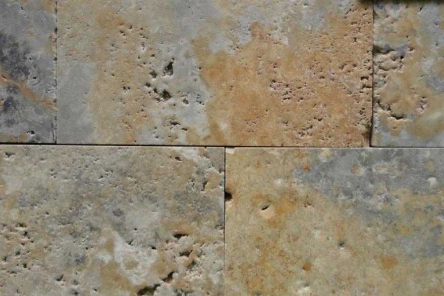 Мозаика каменная - Травертин зеленый шлифованный