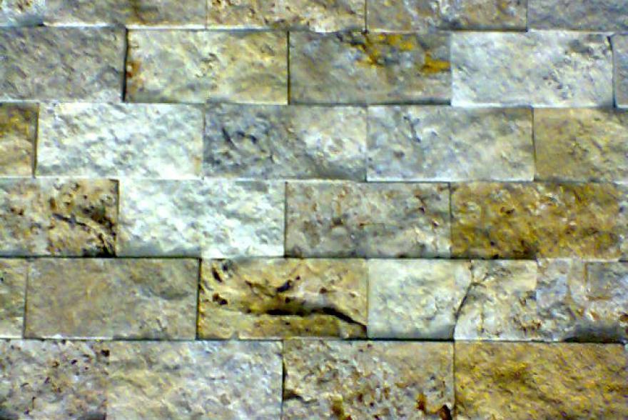 Мозаика каменная - Травертин желтый колотый
