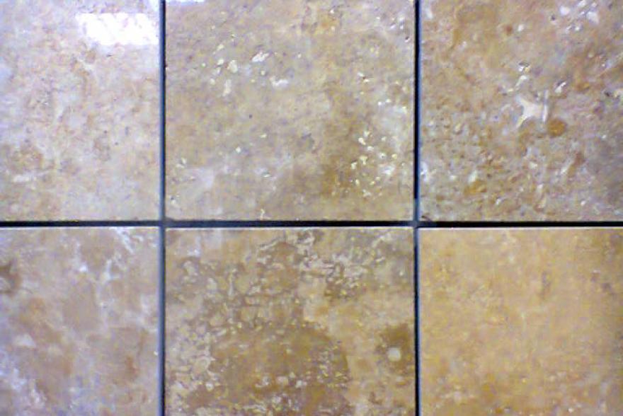 Мозаика каменная - Травертин желтый полированный