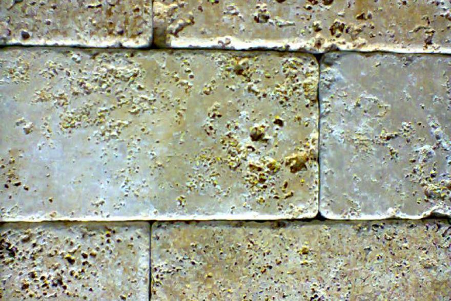 Мозаика каменная - Травертин желтый состаренный
