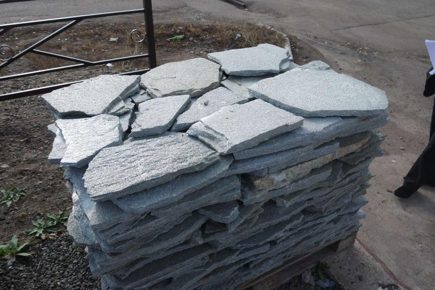 Плитняк - Серебрит галтованный - 1